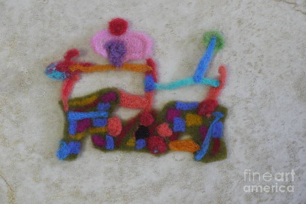 Wool Felting Poster featuring the tapestry - textile Dessert In Wool by Heather Hennick