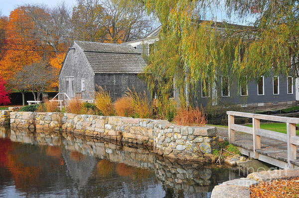 Mill Poster featuring the photograph Dexter's Grist Mill by Catherine Reusch Daley