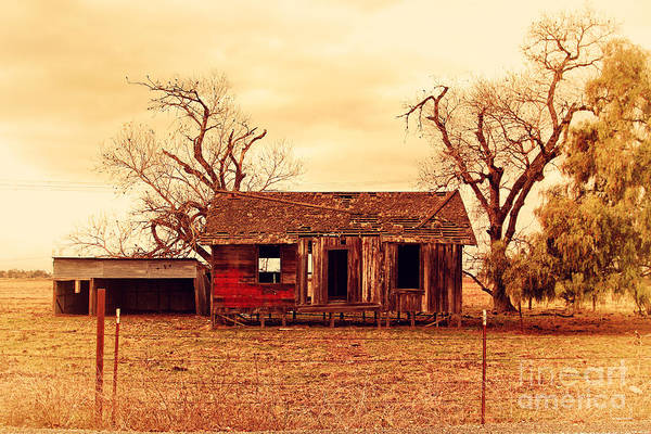 Wingsdomain Poster featuring the photograph Dilapidated Old Farm House . 7d10341 by Wingsdomain Art and Photography
