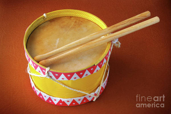 Background Poster featuring the photograph Drum Toy by Carlos Caetano