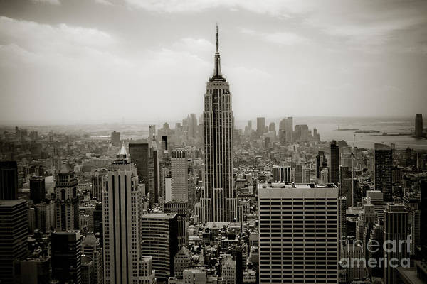 The Most Iconic Building In New York City Poster featuring the photograph Empire State by Ken Marsh