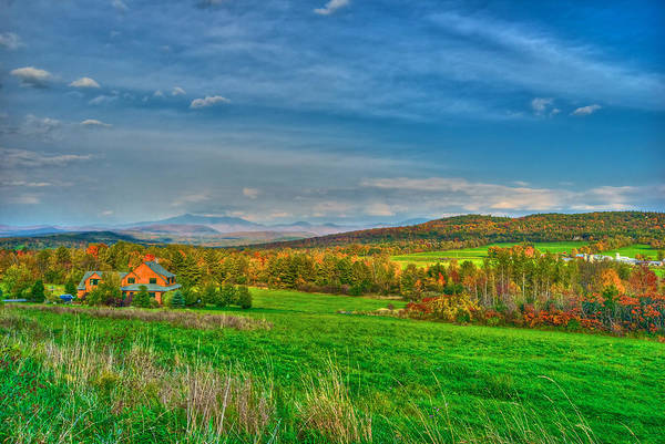 Autumn Poster featuring the photograph Fall Vermont Farm by Mike Horvath