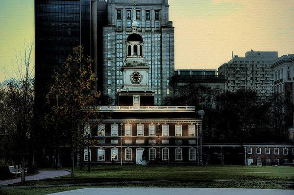 Independence Hall Poster featuring the photograph Independence Hall - The Cradle Of Liberty by Bill Cannon