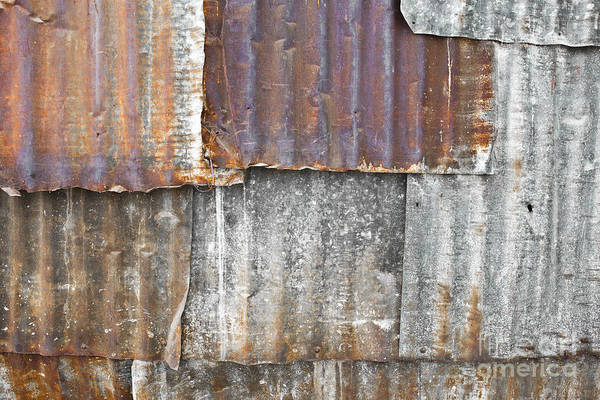 Architecture Poster featuring the photograph Iron Weathering A Variety Of Wall by Chavalit Kamolthamanon