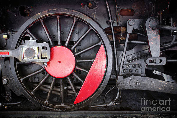 Antique Poster featuring the photograph Locomotive Wheel by Carlos Caetano