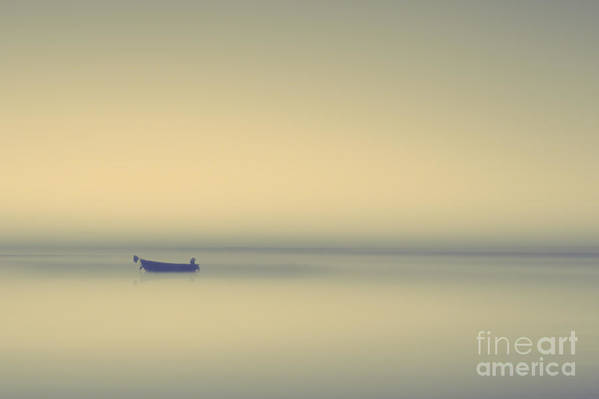 Misty Lake Poster featuring the photograph Misty Lake by Lee-Anne Rafferty-Evans