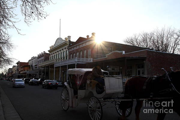 Sacramento Poster featuring the photograph Old Sacramento California In Partial Silhouette . 7d11719 by Wingsdomain Art and Photography