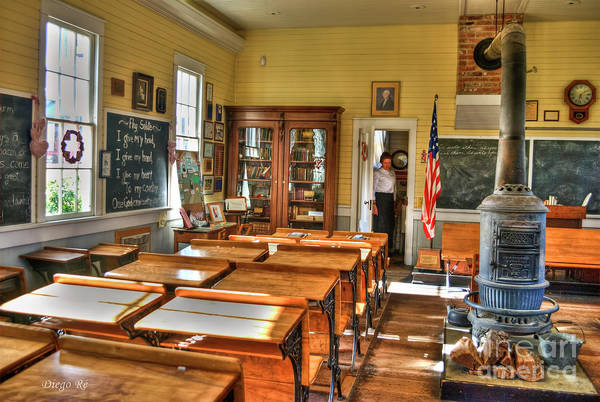 Old School; School; Sacramento; Vintage; Old; Teacher; Teachers; Schools; Sacramento; California; Country Rustic; Rustic Poster featuring the photograph Old School II by Diego Re