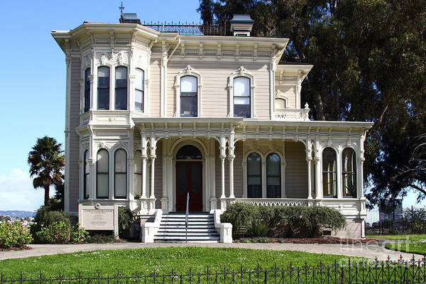 Bay Area Poster featuring the photograph Old Victorian Camron-stanford House . Oakland California . 7d13440 by Wingsdomain Art and Photography