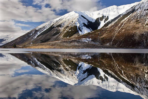Hhh Poster featuring the photograph Reflection In Lake Pearson, Castle Hill by Colin Monteath