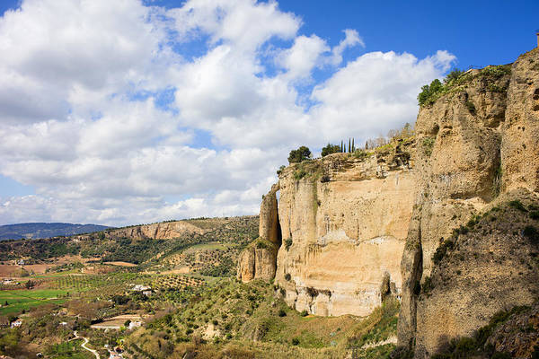 Andalucia Poster featuring the photograph Ronda Cliffs In Andalusia by Artur Bogacki