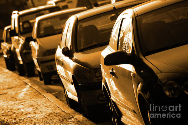 Auto Poster featuring the photograph Row Of Cars by Carlos Caetano