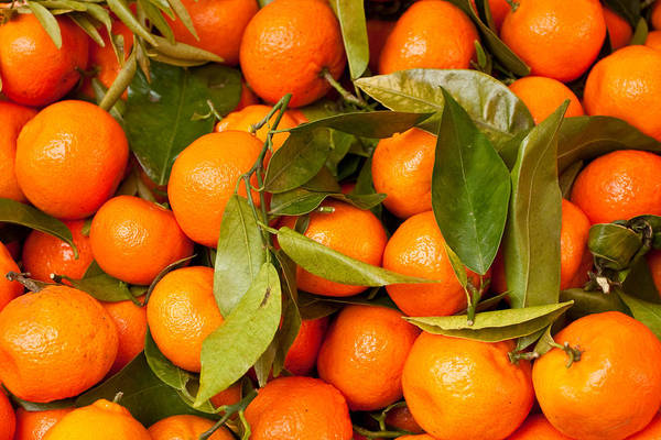 Abstract Poster featuring the photograph Satsumas by Tom Gowanlock