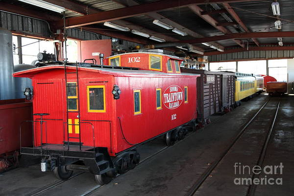 Sonoma Poster featuring the photograph Scale Caboose - Traintown Sonoma California - 5d19240 by Wingsdomain Art and Photography