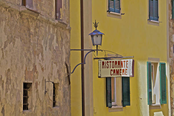 Aged Poster featuring the photograph Secluded Restaurant Of Tuscany by David Letts