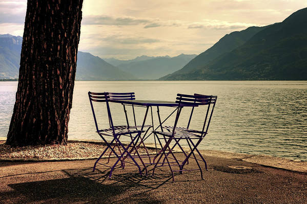 Brissago Poster featuring the photograph Table And Chairs by Joana Kruse