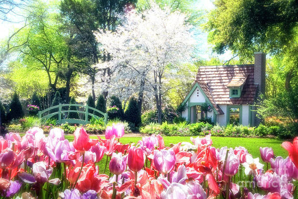claude Monet Poster featuring the photograph The Claude Monet Small House by Tamyra Ayles