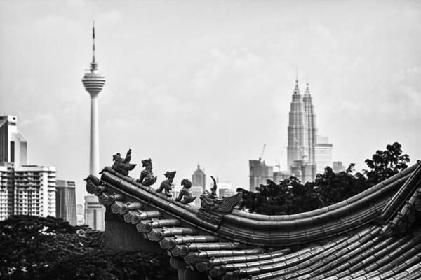 Petronas Towers Poster featuring the photograph The Old And The New by Zoe Ferrie