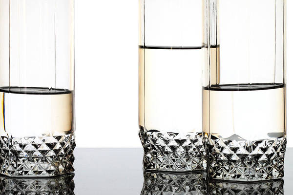 Abstract Poster featuring the photograph Three Luxury Glasses by Dmitry Malyshev