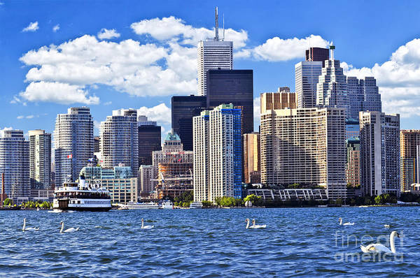 Toronto Poster featuring the photograph Toronto Waterfront by Elena Elisseeva