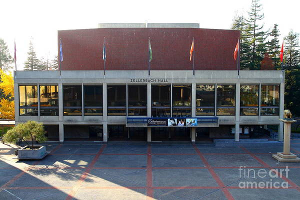 Zellerbach Poster featuring the photograph Uc Berkeley . Zellerbach Hall . 7d10012 by Wingsdomain Art and Photography