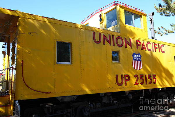Transportation Poster featuring the photograph Union Pacific Caboose - 5d19205 by Wingsdomain Art and Photography