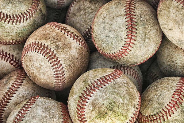 Balls Poster featuring the photograph Used Baseballs by Wade Aiken