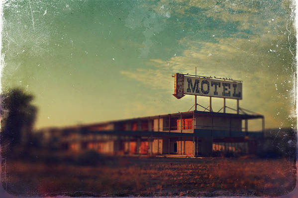 Motel Poster featuring the photograph We Met At The Old Motel by Laurie Search