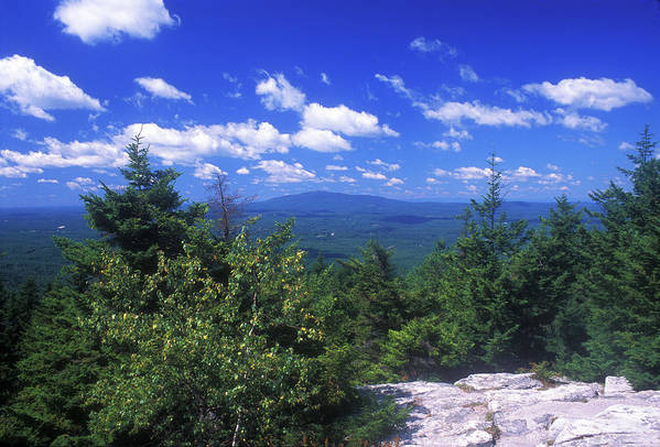 Mount Monadnock Poster featuring the photograph Mount Monadnock From Pack Monadnock by John Burk