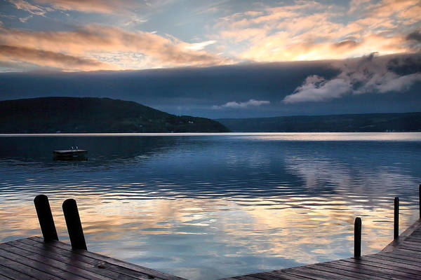 Keuka Lake Poster featuring the photograph Storm Clearing by Steven Ainsworth