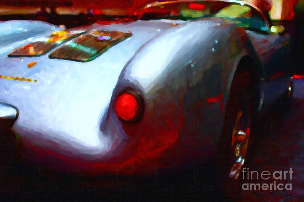 Transportation Poster featuring the photograph 1955 Porsche 550 Rs Spyder . Painterly Style by Wingsdomain Art and Photography