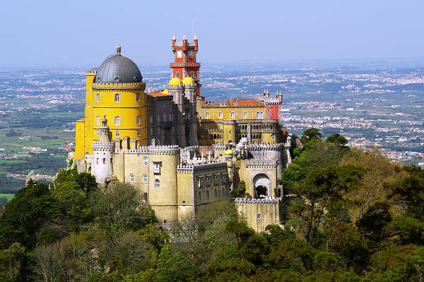 Arabian Poster featuring the photograph Pena Palace by Carlos Caetano