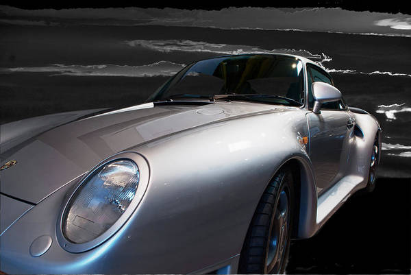 This 1987 Porsche 959 Wes The Super Car Of The 1980's Poster featuring the photograph 959 Porsche by Paul Barkevich