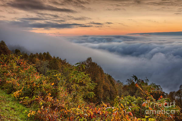 Fall Colors Poster featuring the photograph A Cloudy August Morning by Dan Carmichael