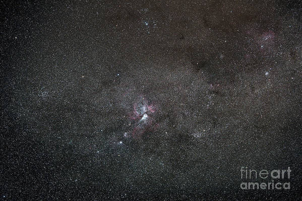 Nebula Poster featuring the photograph A Wide Field View Centered On The Eta by Luis Argerich