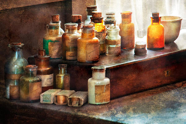 Uburbanscenes Poster featuring the photograph Apothecary - Chemical Ingredients by Mike Savad