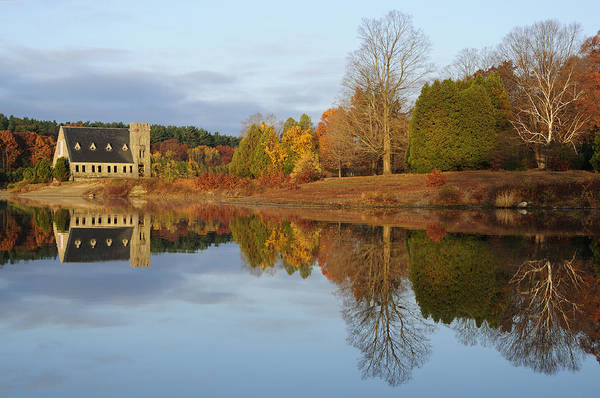 Autumn Poster featuring the photograph Autumn At The Old Stone Church by Luke Moore
