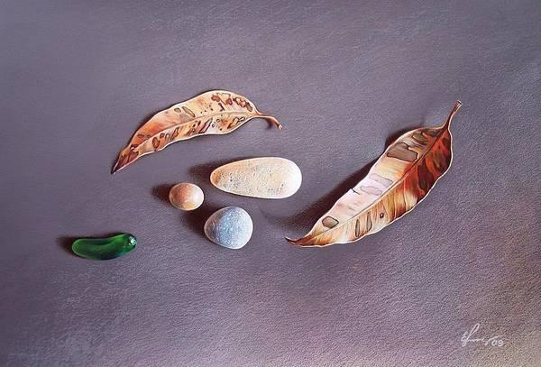 Still Life Poster featuring the drawing Autumn Still Life by Elena Kolotusha