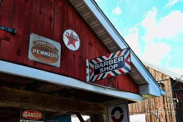 Barber Poster featuring the photograph Barber - Old Barber Shop Sign by Paul Ward