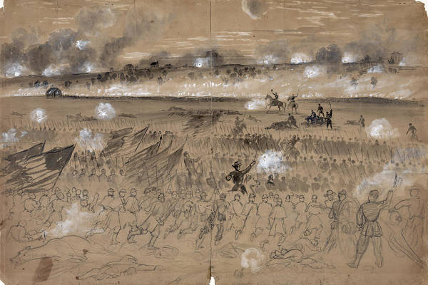 1862 Poster featuring the photograph Battle Of Fredericksburg by Granger