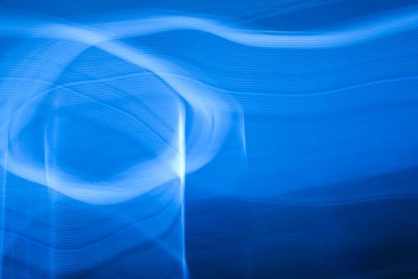 Blue Poster featuring the photograph Blue Abstract 2 by Mark Weaver