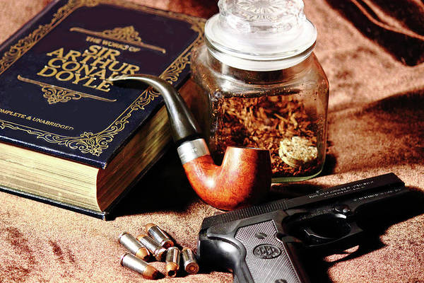 Beretta Poster featuring the photograph Books And Bullets by Barry Jones