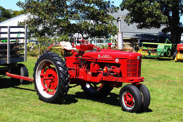 Farmall Poster featuring the photograph Farmall At The Country Fair by Andrew Pacheco