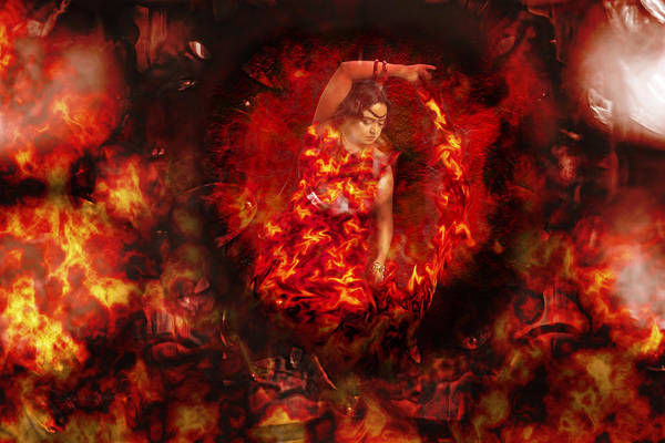 Sharon Popek Poster featuring the photograph Fire Eye by Sharon Popek