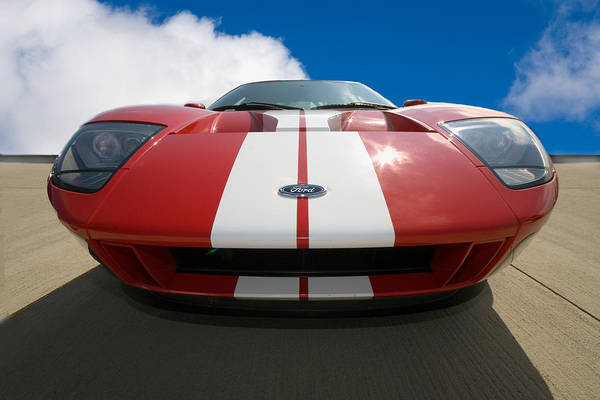 Automotive Poster Featuring The Photograph Ford Gt By Peter Tellone