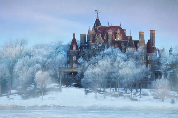 Thousand Islands Poster featuring the photograph Frosted Castle by Lori Deiter