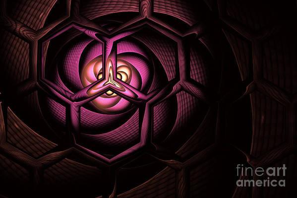 Molecule Poster featuring the digital art Fullerene by John Edwards