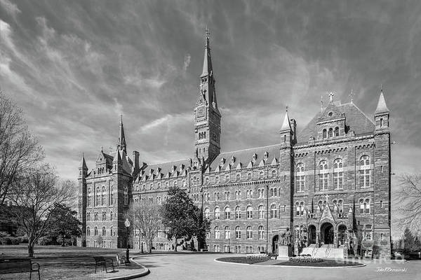 Georgetown University Poster featuring the photograph Georgetown University Healy Hall by University Icons
