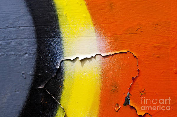 Abstract Poster featuring the photograph Graffiti Texture Iv by Ray Laskowitz - Printscapes