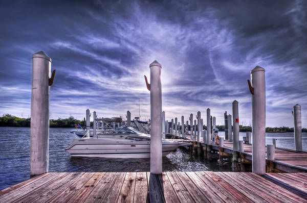 Pier Poster featuring the photograph Gulf Coast Blues by Evelina Kremsdorf